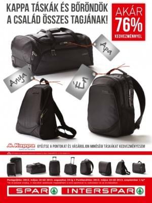 Kappa bőröndök és táskák a SPAR legújabb hűségakciójában  b49fc895d0