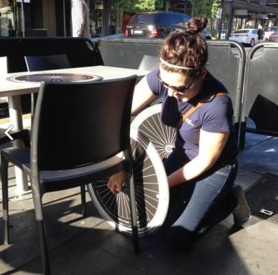 Kerekesszek-imitaciok a teraszon - A nap kepe 6