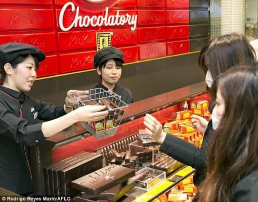 Kit Kat csokoladezo nyilt Tokioban 2