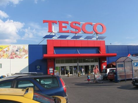 The Tesco named the stores that the company will close in the UK