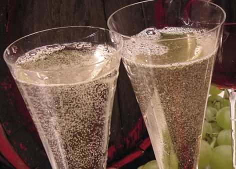 Champagnes and menus were offered on the Downtown market on Sunday