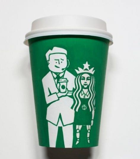 Festővásznunk a Starbucks pohár – A nap képe