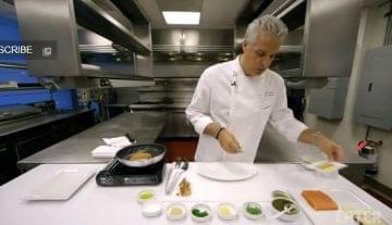 The perfect caviar-sandwich of Eric Ripert