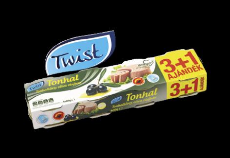 TWIST Tonhaltörzs natúr lében, napraforgóolajban és olívaolajban