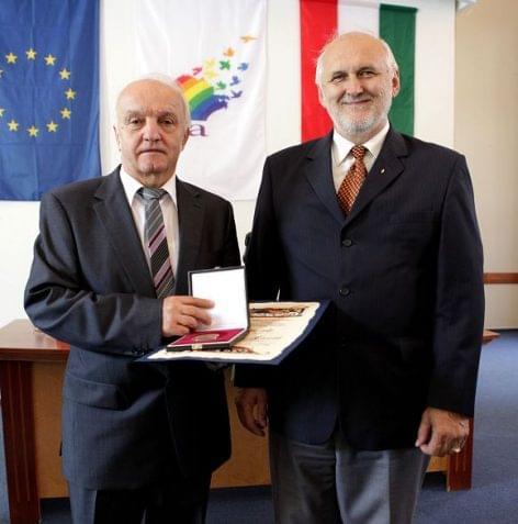 Pekó László was given Cooperative Order of Merit recognition