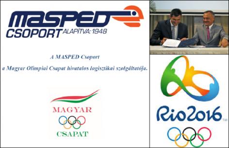 A Masped Csoport a Magyar Olimpiai Csapat hivatalos logisztikai szolgáltatója