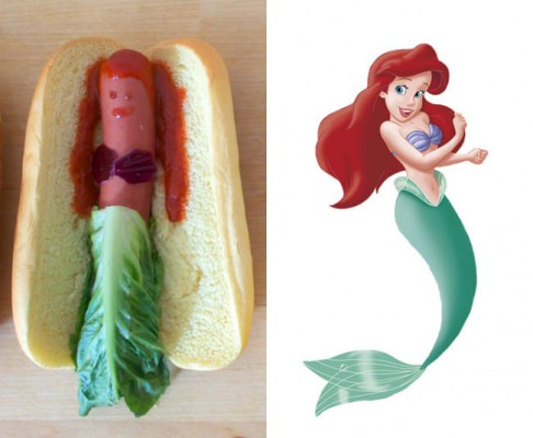 Edi-bedi-sokk Disney hercegnok hot dog formaban - A nap kepe 1