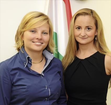 Ducsai-Oláh Zsanett, vezérigazgató és Pál Kata ágazati, technológia és tudástranszfer igazgató Magyar Nemzeti Kereskedőház