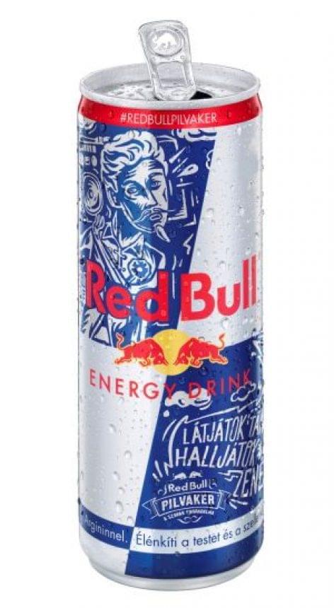Petőfi Sándor arca és verssora a Red Bull dobozon