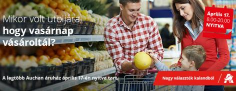 Családi életközpontként nyújt élményt vásárlóinak az Auchan
