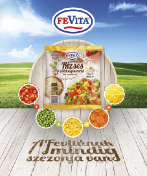 Fevita Gyorsfagyasztott Rizses Zöldségkeverék