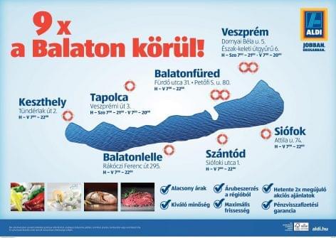 A Balatonon erősít az ALDI