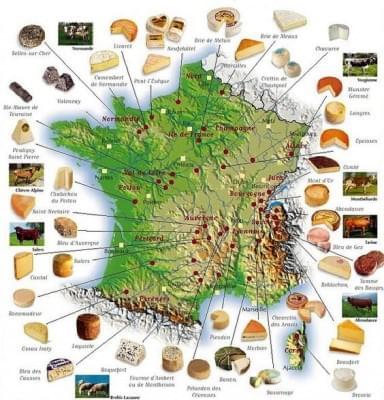 Francia terkep a sajt szerelmeseinek - A nap kepe