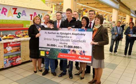 170 000 eurós támogatást adott át az Auchan Magyarország 20 hazai civil szervezetnek
