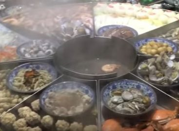 This giant steamer takes up the whole table – Video of the day