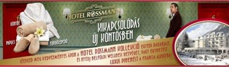 Hotel Rossmann: pihe-puha köntösök, wellness és egy sármos komornyik