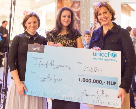 The UNICEF and the Arena Plaza launched a joint Christmas fundraising campaign