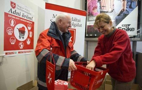 Hat napon át gyűjt a Máltai Szeretetszolgálat a SPAR üzleteiben