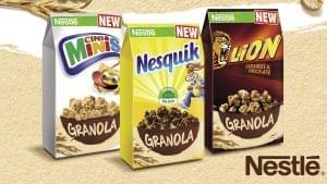 Nestlé Granola  – NESQUIK, CINI MINIS, LION