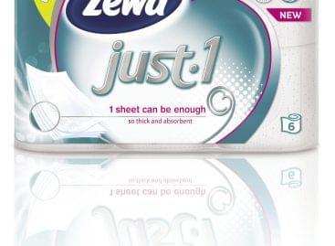 Új Zewa Just1 5 rétegű toalettpapír