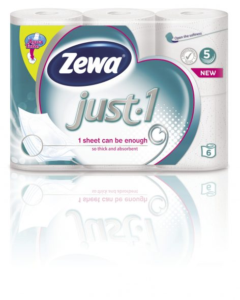 New Zewa Just1 5-ply toilet paper