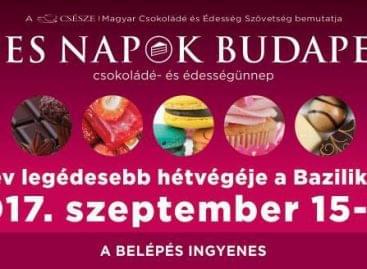 Csokoládé- és édességünnep a Bazilika előtt Budapesten