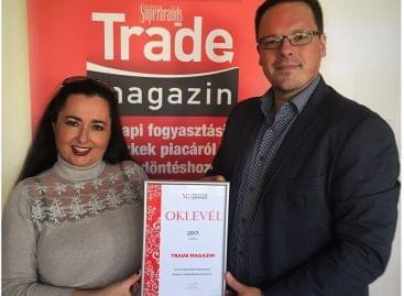 MagyarBrands-díjas lett a Trade magazin
