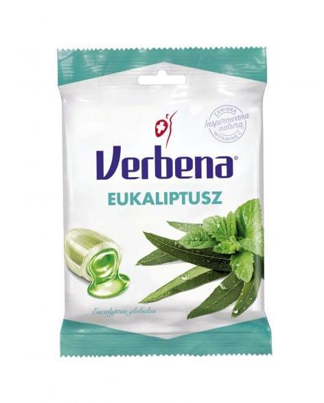 Verbena töltött keménycukorka eukaliptusz-mentol kivonattal és C-vitaminnal