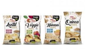 WHITE SNACK BIO Lentil,  BIO Veggie, BIO Hummus és Quinoa snackek