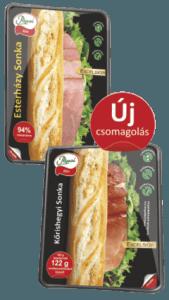 Pápai's sliced hams in new packaging