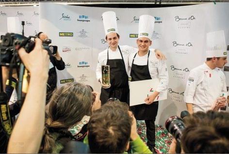Pohner Ádám főz a Bocuse d'Or európai döntőjén