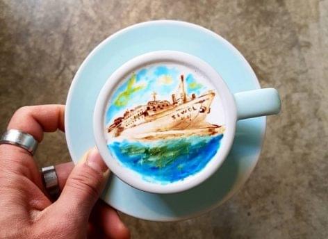 Kávéhab a vászna – A nap képe