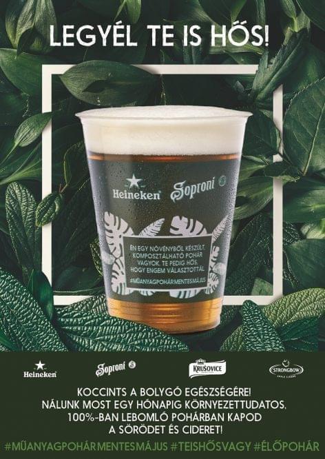 Lebomló söröspohárral indítja a májust a Heineken