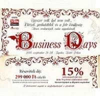 Business Days 2018. szeptember 25-28.