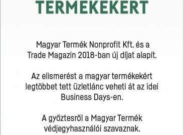 Kereskedelmi Nívódíj a magyar termékekért