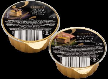 Gourmet Kacsa/libamáj-pástétomok az ALDI-nál