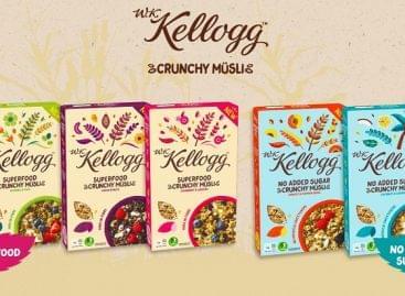 Tápanyagban gazdag összetevőkkel érkezik meg a W.K. Kellogg Crunchy Müsli
