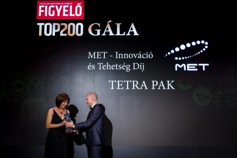 MET Innováció és Tehetség díjat nyert a Tetra Pak