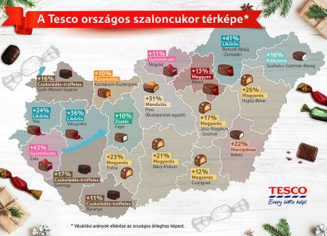 Elkészült a Tesco országos szaloncukortérképe
