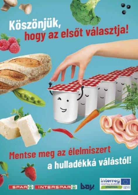 Hipermarketekben kampányol az élelmiszer-pazarlás ellen a SPAR