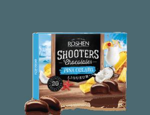 Roshen Shooters étcsokoládés praliné Piña Colada töltelékkel