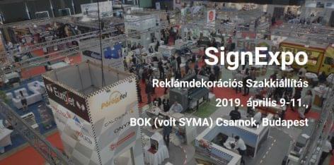 Last reminder: SignExpo + PPDexpo, 2019. április 9-11 BOK csarnok