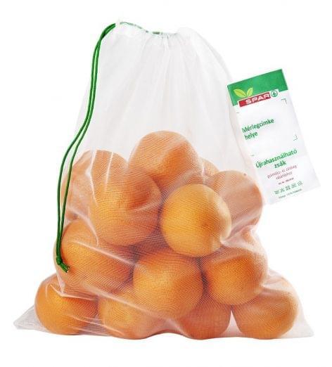 Újrahasználható zöldség- és gyümölcstároló tasakok a SPAR-ban