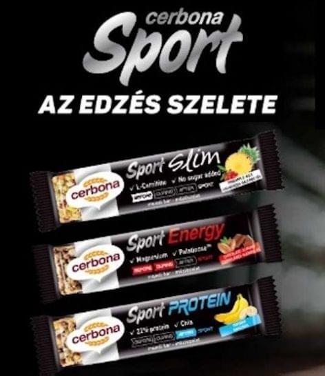 Sport+ fehérjeszeletek a Cerbonától