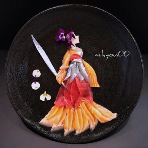 Tányérdíszítés, japán food stylist, sashimi – A nap képe