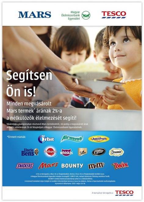 Élelmiszer-pazarlás elleni akciót indít a Tesco és a Mars a Magyar Élelmiszerbank Egyesület támogatására
