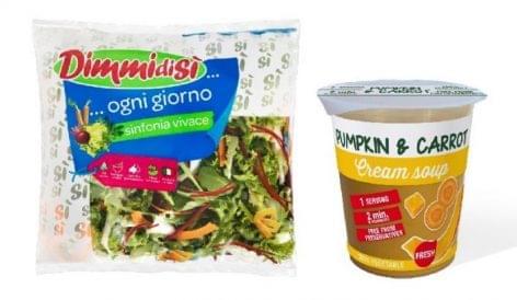 Zacskózott salátát és hűtött levest mutat be a PLMA-n a La Linea Verde
