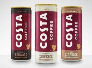 Új, fémdobozos Costa-kávék a Coca-Colától