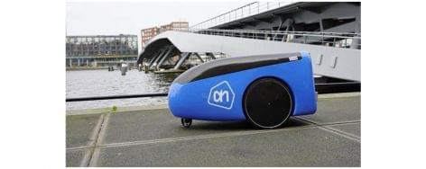 Sofőr nélküli házhozszállító robotokat tesztel az Albert Heijn