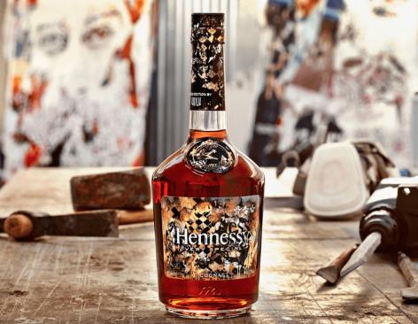 Különleges konyakos üveg a Hennessy-től